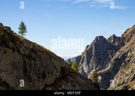 France,Alpes-Maritimes,Mercantour National Park,Gordolasque Valley - Stock Photo