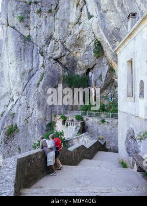 France,Var,Plan d'Aups Sainte Baume,massif de la Sainte Baume,grotte sanctuaire de Sainte Marie Madeleine - Stock Photo