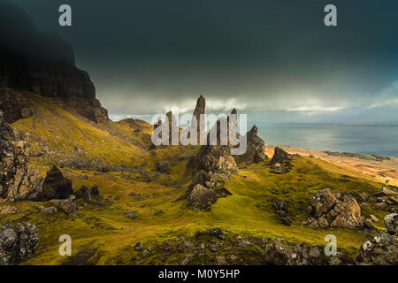 The Old Man of Storr, Isle of Skye - - Stock Photo