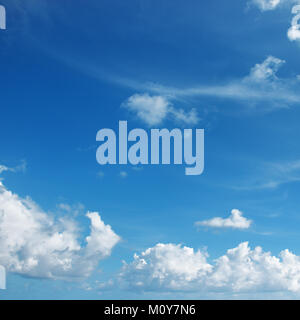 Beautiful white clouds against the blue sky. - Stock Photo
