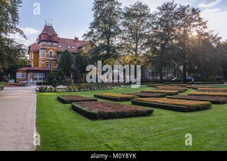 So called Music Garden in Spa Park of Kudowa-Zdroj town in Lower ...
