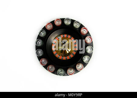 drunk roulette on a white background.play for a big company. - Stock Photo