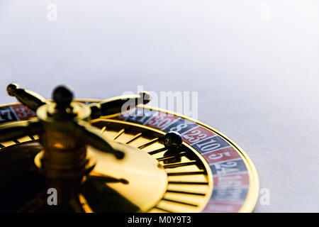 roulette on a white background - Stock Photo