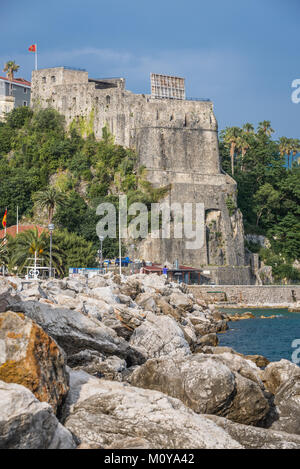 Forte Mare fortress in Herceg Novi city on the Adriatic Sea coast in Montenegro - Stock Photo