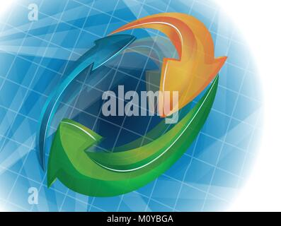 Business  infographic template logo vector design background - Stock Photo