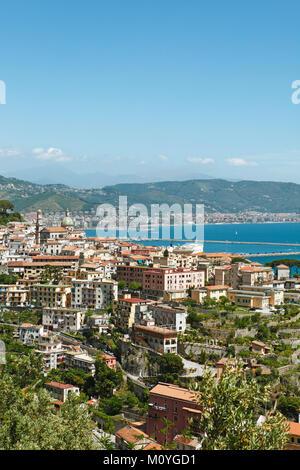 City view,Vietri-sul-Mare,Amalfi Coast,Campania,Italy - Stock Photo