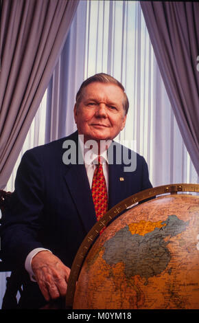 Paul S. Amos - in his AFLAC office. AFLAC was founded by brothers John, Paul (died 2014), and William Amos in Columbus, - Stock Photo