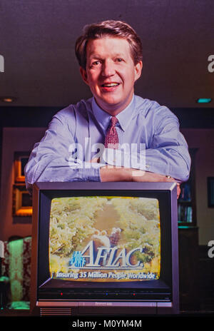 Daniel P. Amos in his AFLAC headquarters office in Columbus, Georgia. Amos began successfully advertising the company - Stock Photo