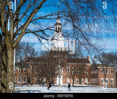 Baker Berry Library on the campus of Dartmouth College - Stock Photo