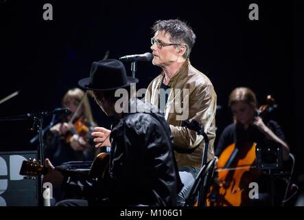 Frankfurt/Main, Germany. 24th Jan, 2018. A-ha, MTV unplugged Tour 2018, concert at Festhalle Frankfurt. Norwegian - Stock Photo