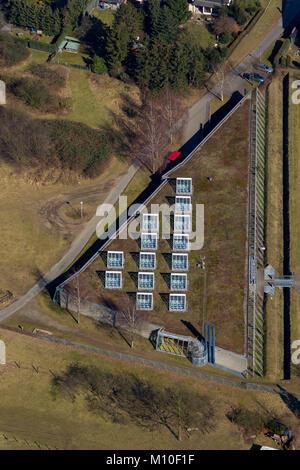 Aerial photo, Roman Museum, LWL Roman Museum, Haltern am See, Ruhr area, North Rhine-Westphalia, Germany, Europe, - Stock Photo