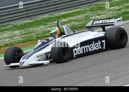 nelson piquet brabham f1 car at monaco gp 1984 stock photo royalty free image 124517400 alamy. Black Bedroom Furniture Sets. Home Design Ideas