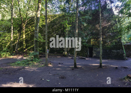 Residence of Martin Bormann, Hitler's personal secretary in Wolf's Lair - the headquarters of Adolf Hitler near - Stock Photo
