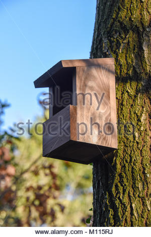 New nest boxes ready for nesting season. - Stock Photo