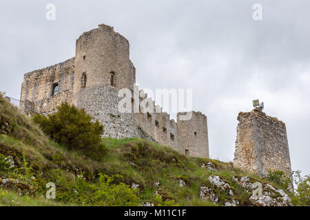 Beautifull castle of Rocca Calascio, famous for the location of the famous movie Ladyhawke in the province of L'Aquila, - Stock Photo