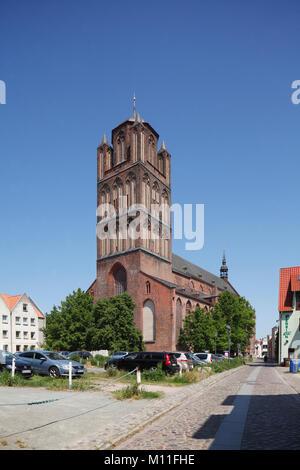 Jakobikirche Church , Stralsund, Mecklenburg-Vorpommern, Germany, Europe I Jakobikirche , Altstadt, Stralsund, Mecklenburg - Stock Photo