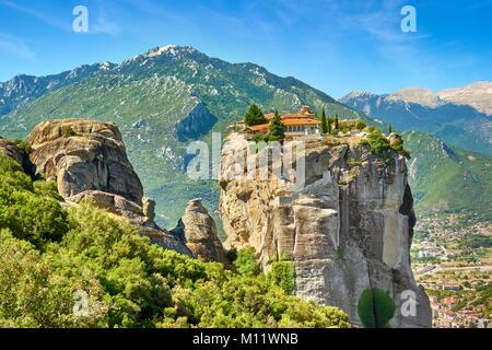 Holy Trinity Monastery at Meteora, Trikala Region, Greece - Stock Photo