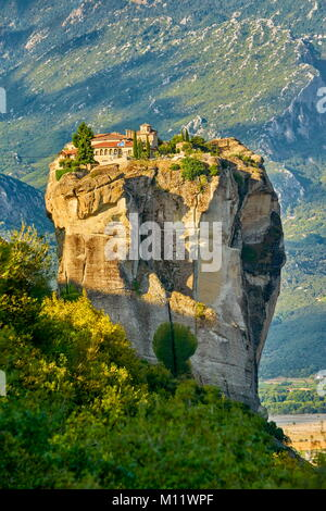 Holy Trinity Monastery at Meteora, Greece - Stock Photo
