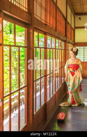 Geisha makeup Kyoto - Stock Photo