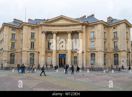 Sorbonne University Paris,Université Paris 1 Panthéon-Sorbonne,Main Building,Quartier Latin,Paris,France - Stock Photo
