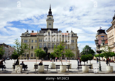 NOVI SAD, SERBIA - CIRCA MAY 2016 Main square - Stock Photo