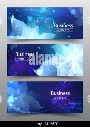Vector illustration set of banners, brochures, business cards, cover. - Stock Photo