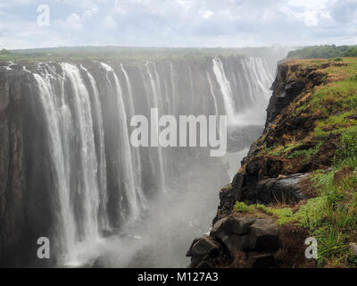 ZIMBABWE, AFRICA:  Victoria Falls on the Zambezi River - Stock Photo