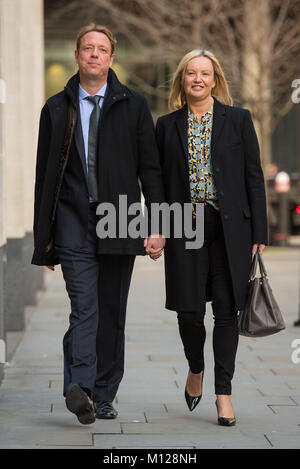 Florian and Gabby Kuehn arrive at the Rolls Building, at the Royal Courts of Justice in London, where they are appealing - Stock Photo