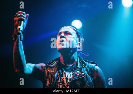The American rapper and lyricist Michael Wayne Atha is better known by his stage name Yelawolf and here pictured - Stock Photo