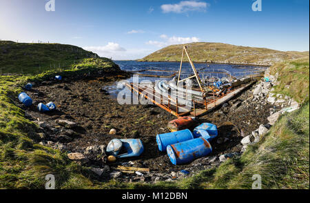 Debris from fish farm industry washed up on shoreline in Shetland