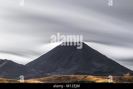 Mount Ngauruhoe at Tongariro National Park, New Zealand. - Stock Photo