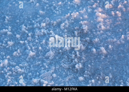 Salt Crystals on the Bonneville Salt Flats, which is BLM land west of the Great Salt Lake, Utah, USA - Stock Photo