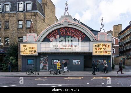 The Screen on the Green cinema on Islington Green. - Stock Photo
