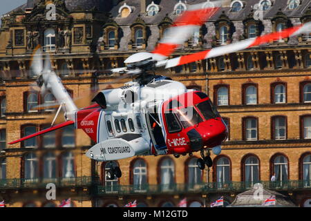 RAF Search & Rescue Helicopter Display - Stock Photo