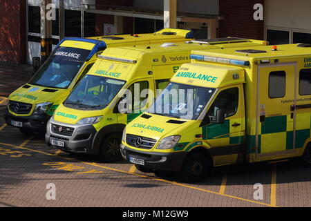 Leeds General Infirmary A & E - Stock Photo