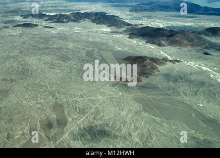 The Nazca Lines in Peru, here you can see the Trident - Stock Photo