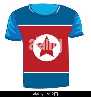 T-shirt with flag of the north korea - Stock Photo