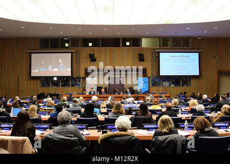 New York City, United States. 25th Jan, 2018. B'Nai Brith Director of UN & Intercommunal Affairs, David J Michaels - Stock Photo