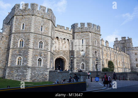 Windsor, UK. 25th January, 2018. The Henry VIII date at Windsor Castle. - Stock Photo