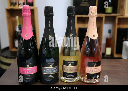 London UK 26 January 2018 The France show held at the London Olympia with all about France , cheese wines and champagne - Stock Photo