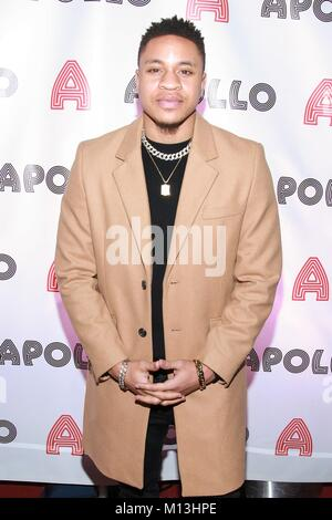 New York, NY, USA. 26th Jan, 2018. Rotimi at arrivals for Apollo Theater Pre-Grammy Uptown Luncheon, The Apollo - Stock Photo