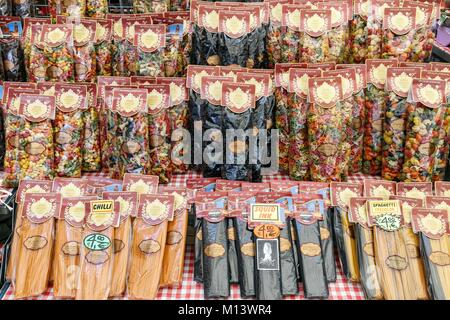 Italy, Latium, Rome, packs of noodles - Stock Photo