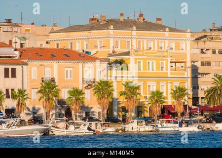 Croatia, Central Dalmatia, Dalmatian coast, Zadar, historic old town - Stock Photo