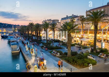 Croatia, Central Dalmatia, Dalmatian coast, Split, the port - Stock Photo