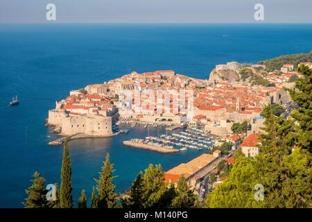 Croatia, Central Dalmatia, Dalmatian coast, Dubrovnik, Historic Centre listed as World Heritage by UNESCO - Stock Photo