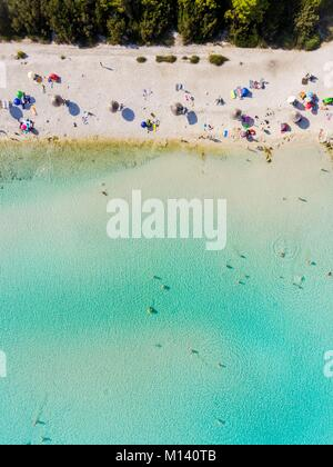 Croatia, North Dalmatia, Dalmatian coast, Zadar archipelago, Dugi Otok island, Sakarun beach (aerial view) - Stock Photo