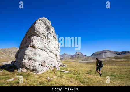 France, Alpes de Haute Provence, National Park of Mercantour, Haut Verdon, Colmar, plateau of the lakes of Lignin, - Stock Photo