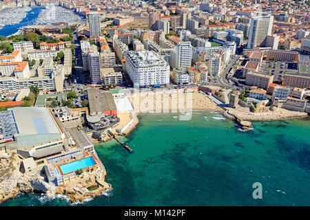 the plage des catalans in marseille stock photo royalty free image 55743328 alamy. Black Bedroom Furniture Sets. Home Design Ideas