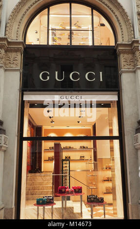 a1ca4164bfd1 ... Italy,Lombardy,Milan,the Galleria Vittorio Emanuele,Gucci fashion shop  - Stock