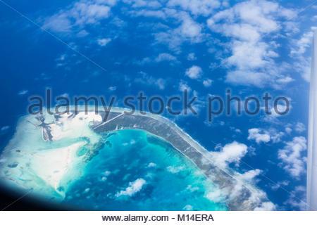 Aranuka airport, fly Nadi - Tarawa, Kiribati - Stock Photo